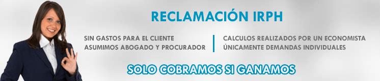 RECLAMACIÓN IRPH Reclamación IRPH Tenerife